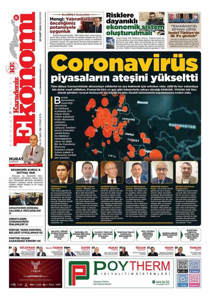Karadeniz Ekonomi Gazetesi 158. Sayısı