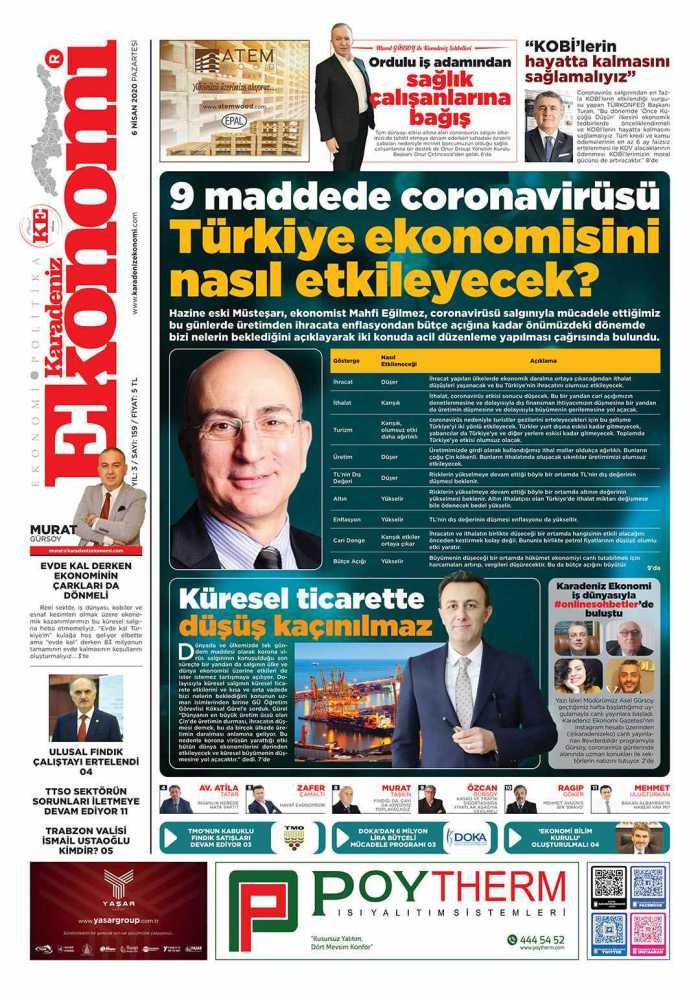 Karadeniz Ekonomi Gazetesi 159. Sayısı