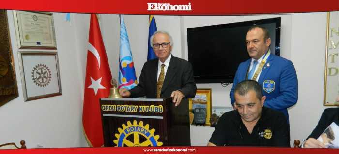 Topçuoğlu, Rotary'nin konuğu oldu