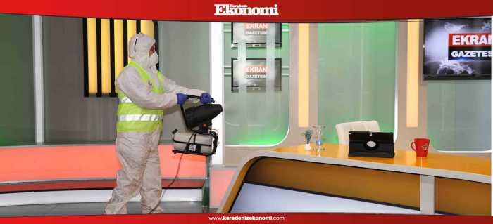 Basın kuruluşları dezenfekte edildi