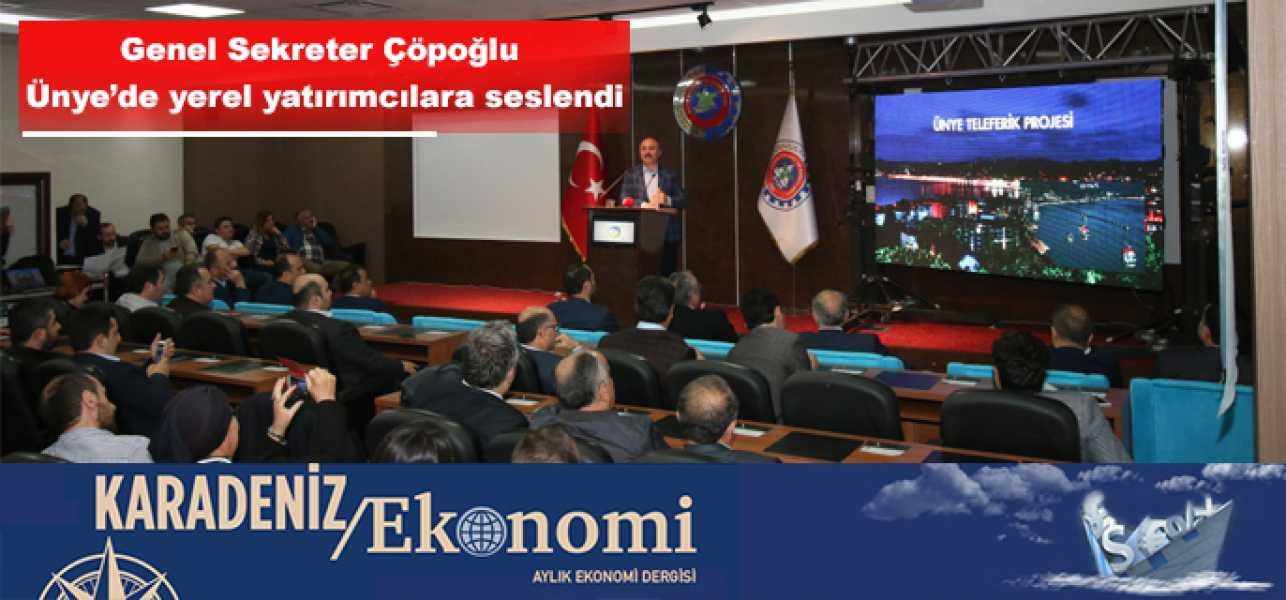 Çöpoğlu''Yerel Yatırımcılar İhaleye Girsin İstiyoruz''